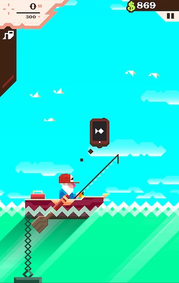 In Ridiculous Fishing you're a seasoned fisherman.  It's your job to plumb the depths of the sea for as many fish as you can catch.  Turn your fish into cash that you can use to upgrade your rod and tackle, allowing you to fish all the way to the very bottom of the ocean!