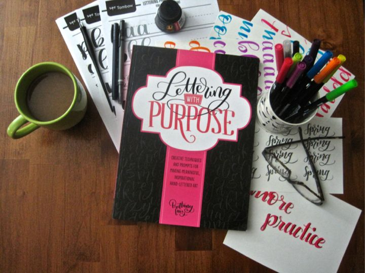 """Lettering With Purpose"" by Brittany Luiz  was published on September 1, 2017 so it is already available as a soft cover. Spectacular book, 5 star."