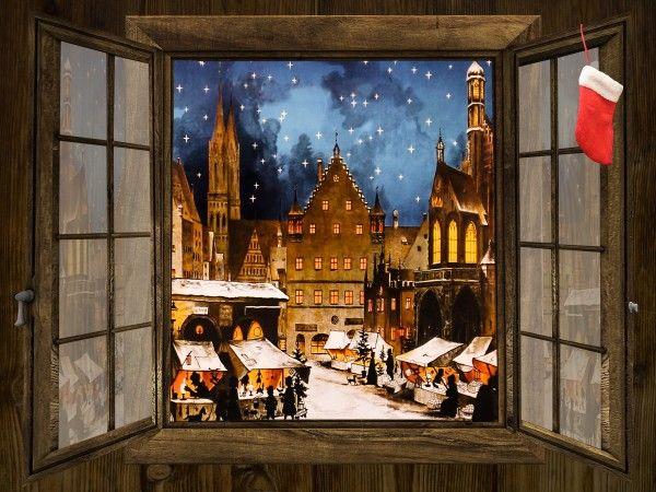 Winter Holiday Market Wallpaper