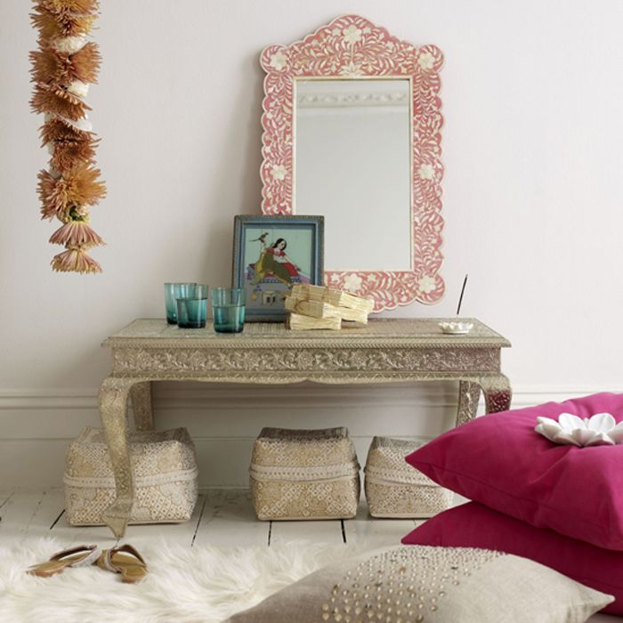 pretty rooms | white living room with a pretty indian theme from livingetc the mother ...