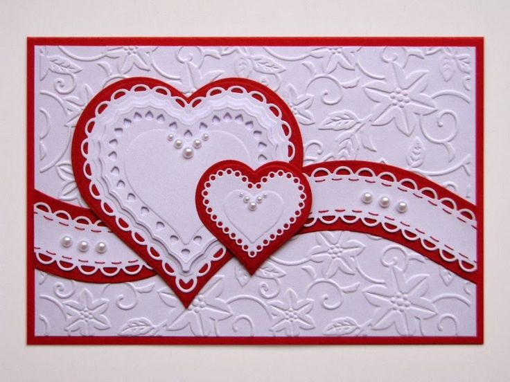 17 Best images about 03 Wedding cards to make – Valentine Anniversary Cards