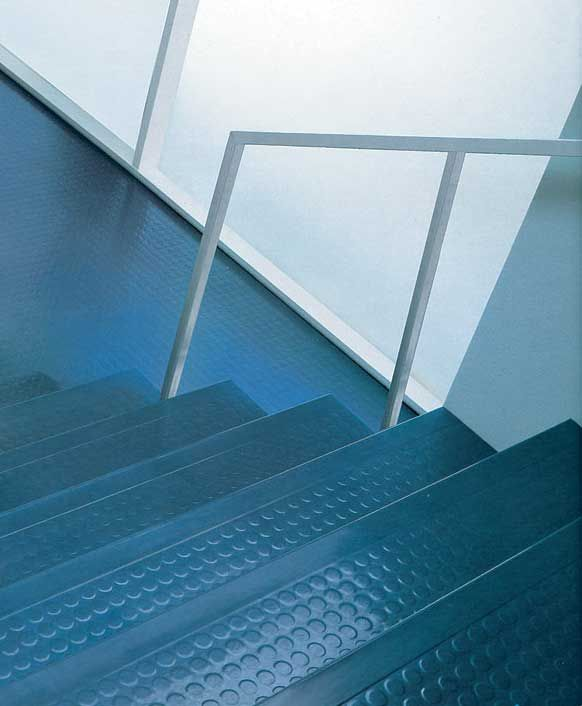 Blue Dot Rubber Stairs