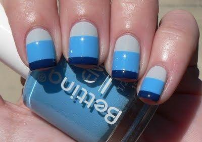 Nautical summer nails