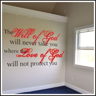 Will of God | Inspirational Wall Quotes Christian Wall Decals - I sent hubby with this on a dog tag to wear with the issued ones on his first deployment of our marriage.