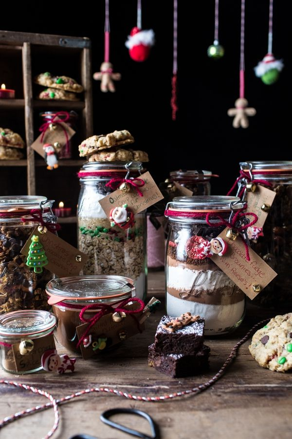 Edible Christmas Gifts In Jars (Plus a Giveaway)!! So cute and easy! Find these recipes and more at halfbakedharvest.com