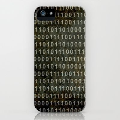 The Binary Code - Distressed textured version iPhone & iPod Case by Bruce Stanfield - $35.00