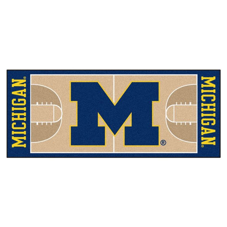 Slam dunk the next great addition to your home. Show your team spirit by adding this great looking, quality NBA Basketball Runner rug to your home or office. The Michigan Wolverines area rug is chromo