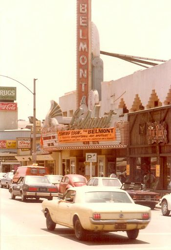 Belmont Theater, Belmont Shores/Long Beach CA.  1965 white Mustang looks just like mine.