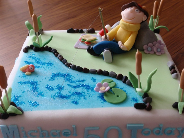73 best Fishing Cakes images on Pinterest Fishing cakes Birthdays