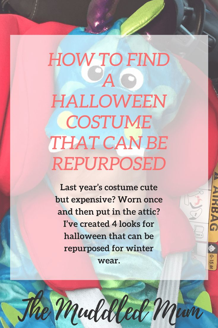 Choosing a Halloween outfit that can be re-purposed for winter wear. - The Muddled Mum