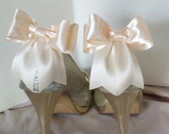 Chaussure Clips Clips de chaussure mariée Satin par ShoeClipsOnly