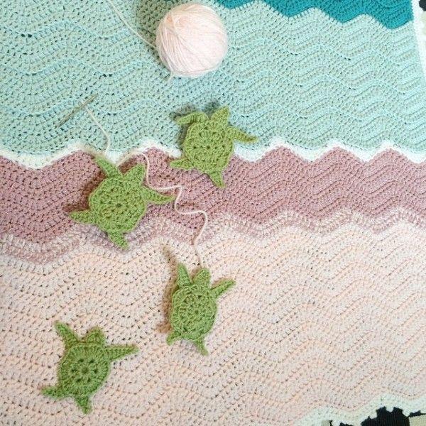 Raimarie16 Crochet Ripple Turtle Blanket Crochet