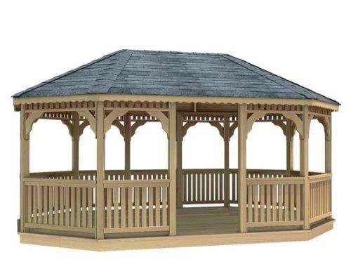 10' x 12' Cedar Oval Gazebo by Fifthroom. $5699.00