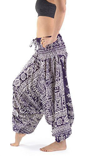 buy now $39.99 Traditional Low Crotch Harem Pants | Aztec PrintOfficial Nirvana & Papaya ItemHandmade in ThailandElastic Waist UK 4 to 22 | Outseam 36in | Inseam 23in | Front Pocket100% Rayon Related