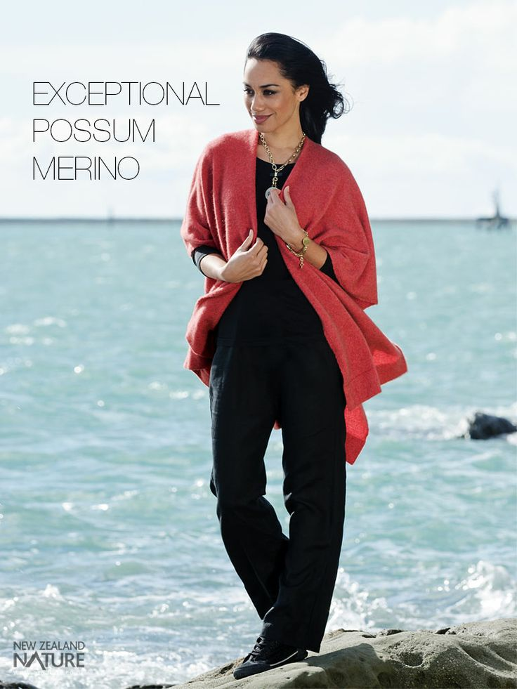 Possum - Merino Wool Clothing http://www.nznature.co.nz/category/possum-possum-wool  A blend of quality merino wool and possum fur is perfect for stylish and comfortable clothing and accessories. Due to its hollow nature, the possum fur fibre is incredibly insulating and provides exceptional thermal warmth without weight. Research has shown that it is 55% warmer than Merino and 35% warmer than cashmere.