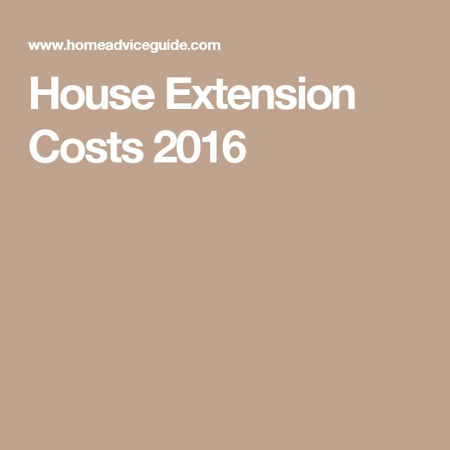 House Extension Costs 2016