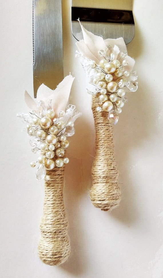 Rustic Wedding Cake Server Set Wedding Cake by WeddingArtGallery #rustic cake…