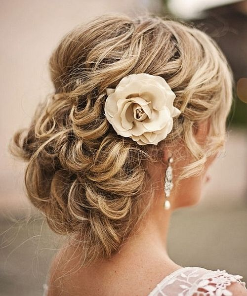 Curly Wedding Updos Hairstyles Wavy