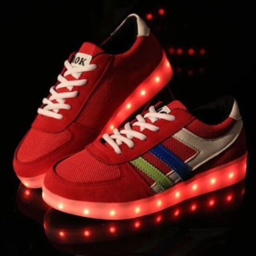 Fashion-Mens-LED-Light-Up-Lace-Up-Casual-Sport-Trainer-Breathable-Sneakers-Shoes