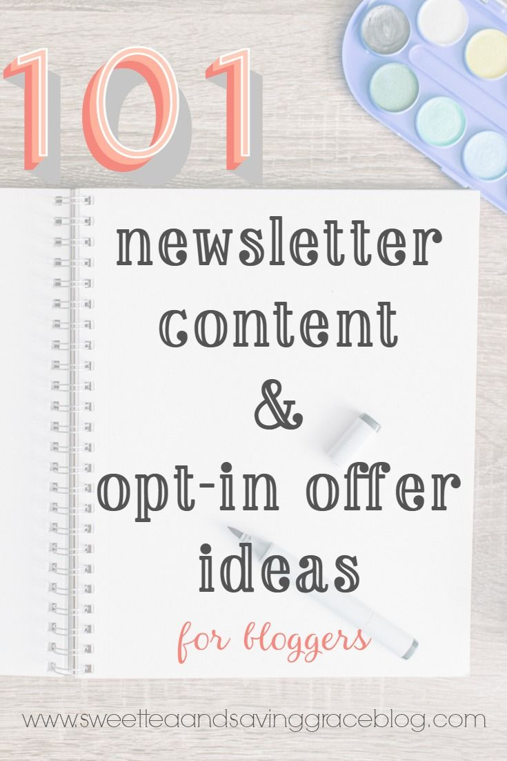 Stop sending boring newsletters! Here are 101 newsletter content & opt-in offer ideas for every niche!