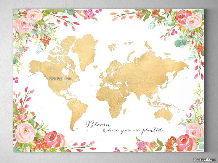 17 best world maps images on Pinterest World maps, Water colors - copy rainbow world map canvas