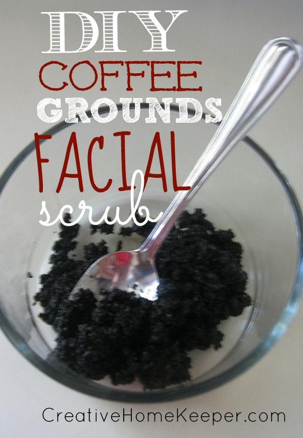 DIY Coffee Grounds Facial Scrub: Only 2 ingredients you probably already have in your pantry makes this not only simple and natural, but also quite frugal too! Your skin will thank you!