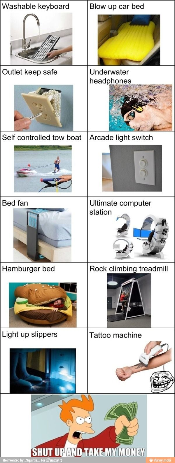 Amazing inventions / iFunny :)  I would use the tattoo thing to prank people! Lol
