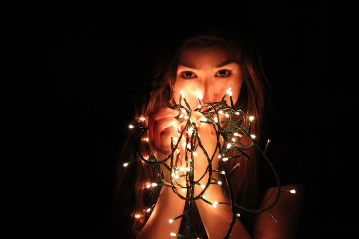 Self portrait with fairy lights 31.12.13