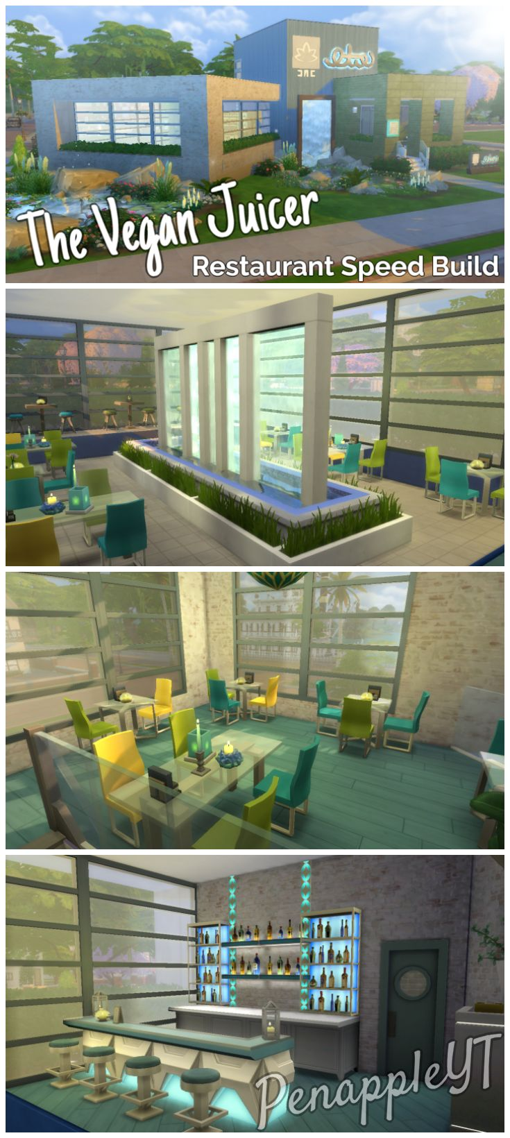 Urban treehouse sims 4 houses - A Modern Restaurant Designed To Look Very Green And Eco Friendly I Imagine The The Simssims 4outdoor