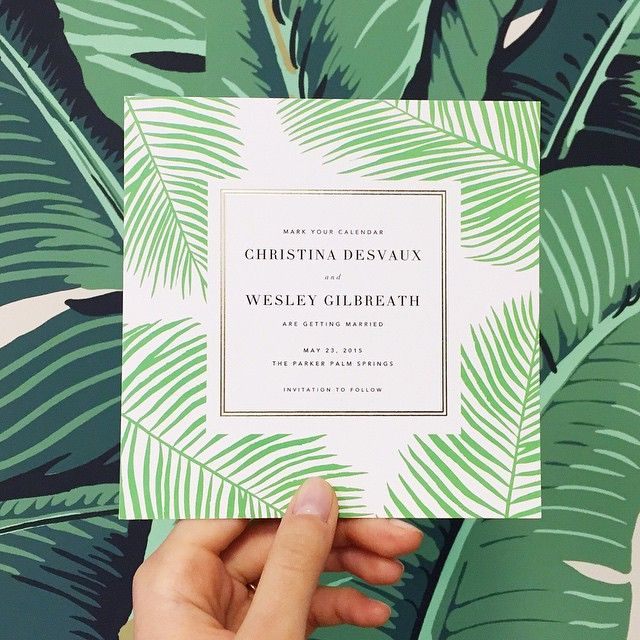 A new save the date designed specially for our own @cdesvaux's Palm Springs…