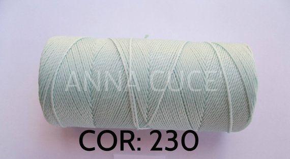 COR:  230 menta  Spool da 180 metri filo cerato di AnnaCuce