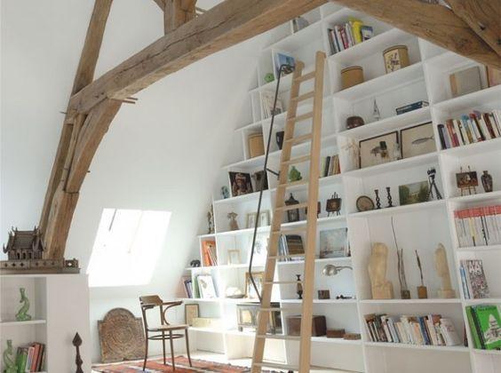 les 25 meilleures id es concernant chelle de biblioth que sur pinterest tag res de. Black Bedroom Furniture Sets. Home Design Ideas