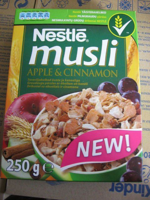 Nestle Musli Apple and Cinnamon Cereals product of Nestle