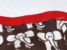 Näbbgädda: Tutorial: Sy kantband i trikå