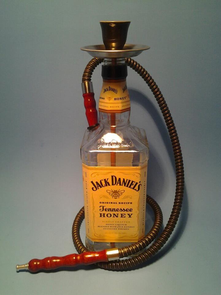 jack daniels honey one man hookah black w 1 hose this. Black Bedroom Furniture Sets. Home Design Ideas