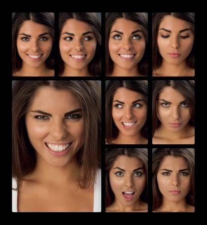 Facial expressions portraits