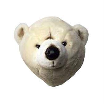 Det charmiga mjuka isbjörnshuvudet kommer från Brigbys och är en mysig väggdekoration till barnrummet. Kombinera isbjörnen tillsammans med andra mjuka djur att hänga på väggen från Brigbys för att skapa en lekfull känsla i rummet.
