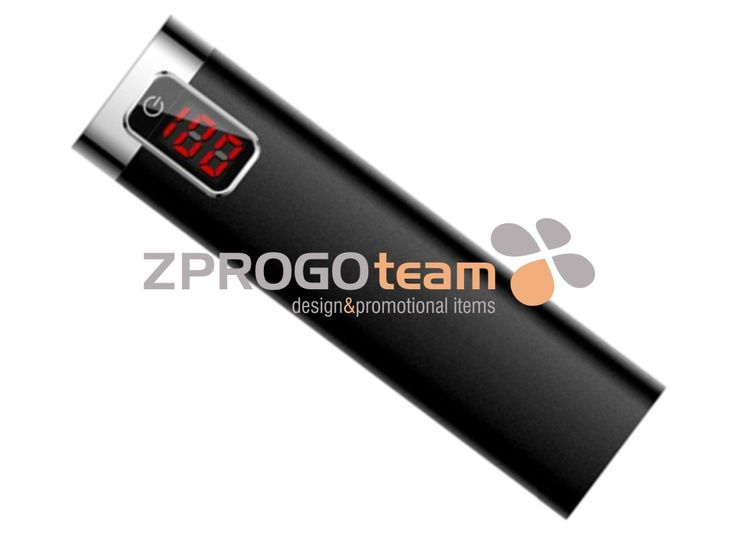 NEW: Metal Power bank with LED indicator showing the remaining capacity.