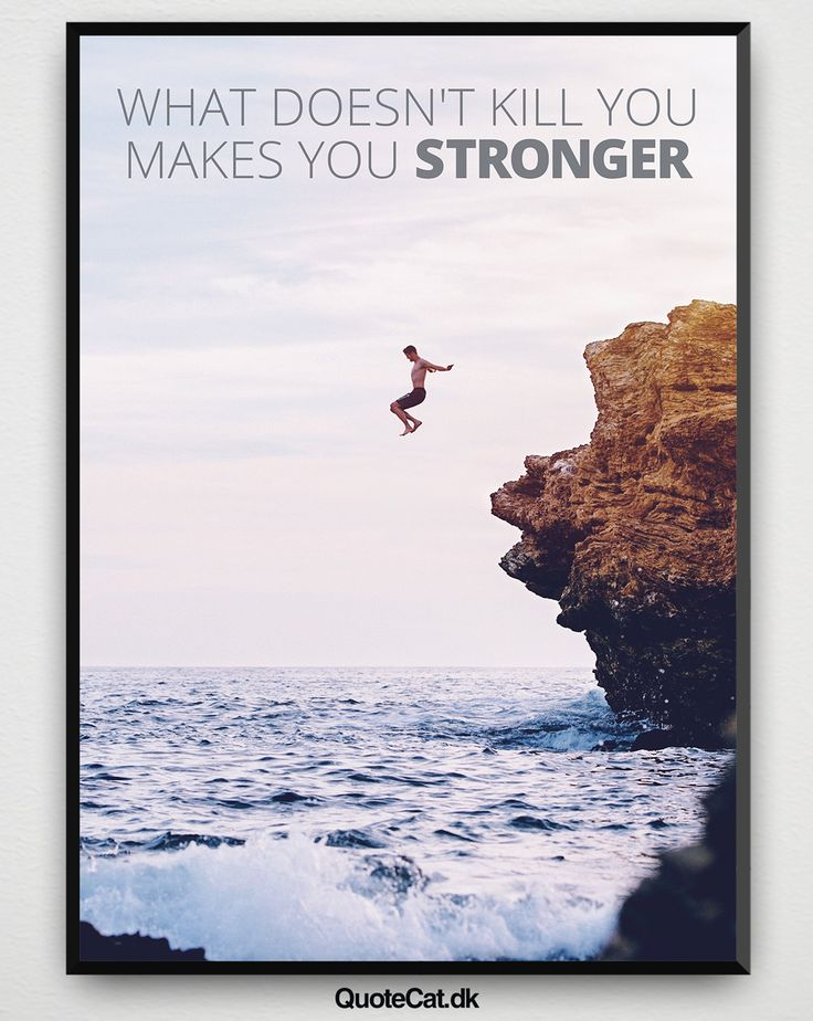 """""""What Doesn't Kill You Makes You Stronger"""" - - #quotecat #motivationalquotes #motivation #life #quotes #quote #saying #sayings #qoutesoftheday #quotestoliveby #pictureoftheday #lifequotes #inspiration #fashion #art #style #words #wordsofwisdom #entrepreneur #picture #poster #posters #citat #citater #ordsprog #plakat #plakater"""