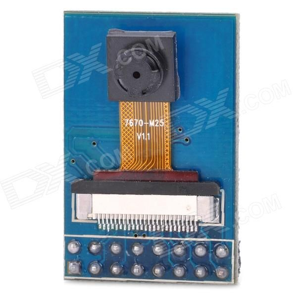 OV7670 30fps VGA Camera Module for Arduino (Works with Official Arduino Boards). Model: I061803 - Quantity: 1 - Color: Blue - Material: PCB - Interface: SCCB (compatible IC) - Photographic array: 640 x 480 - Power supply voltage: 2.8V - Auto affect the control features include: automatic exposure control, automatic gain control, automatic white balance, automatic elimination of streaks of light, automatic black level calibration. - Image quality control including color saturation, hue…