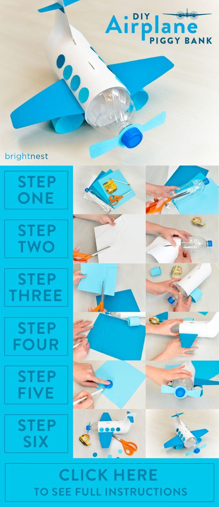 BrightNest | Crafts For Kids: Make a Unique Piggy Bank out of a Plastic Bottle! See the full #DIY on http://BrightNest.com