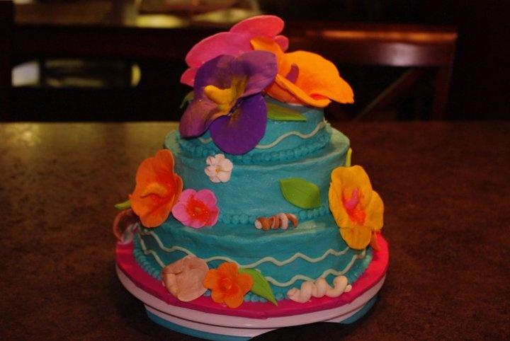 luau bridal shower cake my cakesthe good and the bad shower cakes luau bridal shower luau cakes