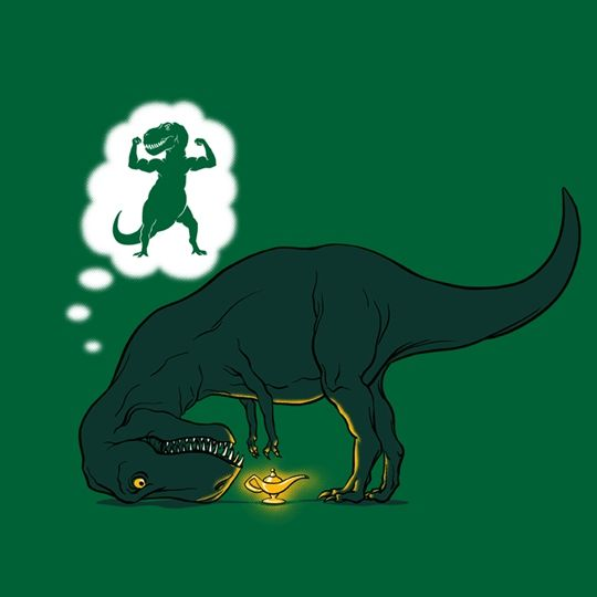 We pretty much love this poor T-Rex...