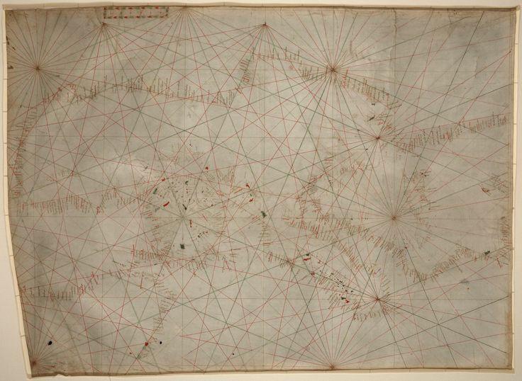 Portolan chart of the Mediterranean Sea ca. 1320-1350 : manuscript chart of the Mediterranean and Black seas on vellum - Library of Congress