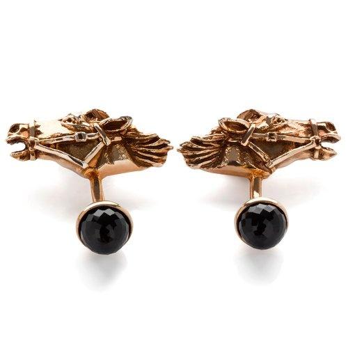 Tomasz Donocik Horsehead Cufflinks - Antique Gold