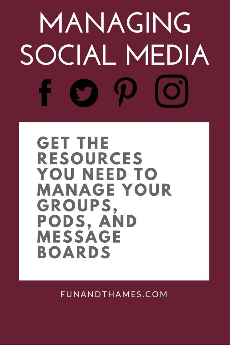 Don't let managing your social media accounts get out of control! Get my FREE printable and get a strategic plan for making your social media accounts work for you! www.funandthames.com