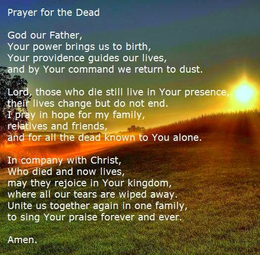prayer for the dead father fernando suarez catholic practice pinterest prayers quotes about god and god