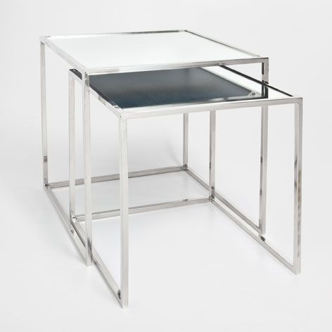 45 x 45 £119 GLASS NEST OF TABLES (SET OF 2) - Occasional Furniture | Zara Home United Kingdom