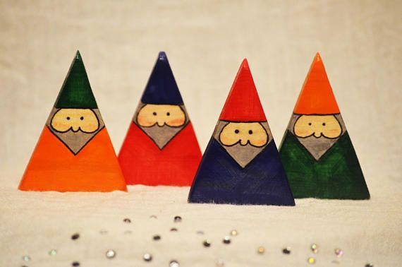 Waldorf Wooden Toys Wooden Gnomes Waldorf Gnomes Wooden