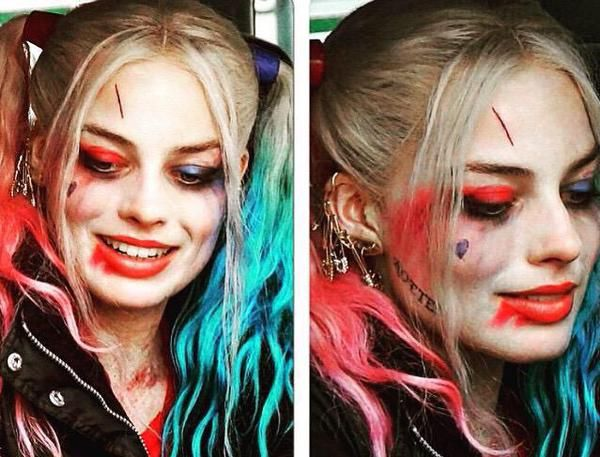 harley quinn margot robbie hair and makeup - Google Search  --Be your own Whyld Girl with a wicked tee today! http://whyldgirl.com/tshirts